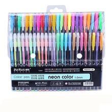 Adeeing 48 цветов гелевые ручки пастельные блестящие флуоресцентные металлические цветные маркеры канцелярские принадлежности для школьников офисные принадлежности r20