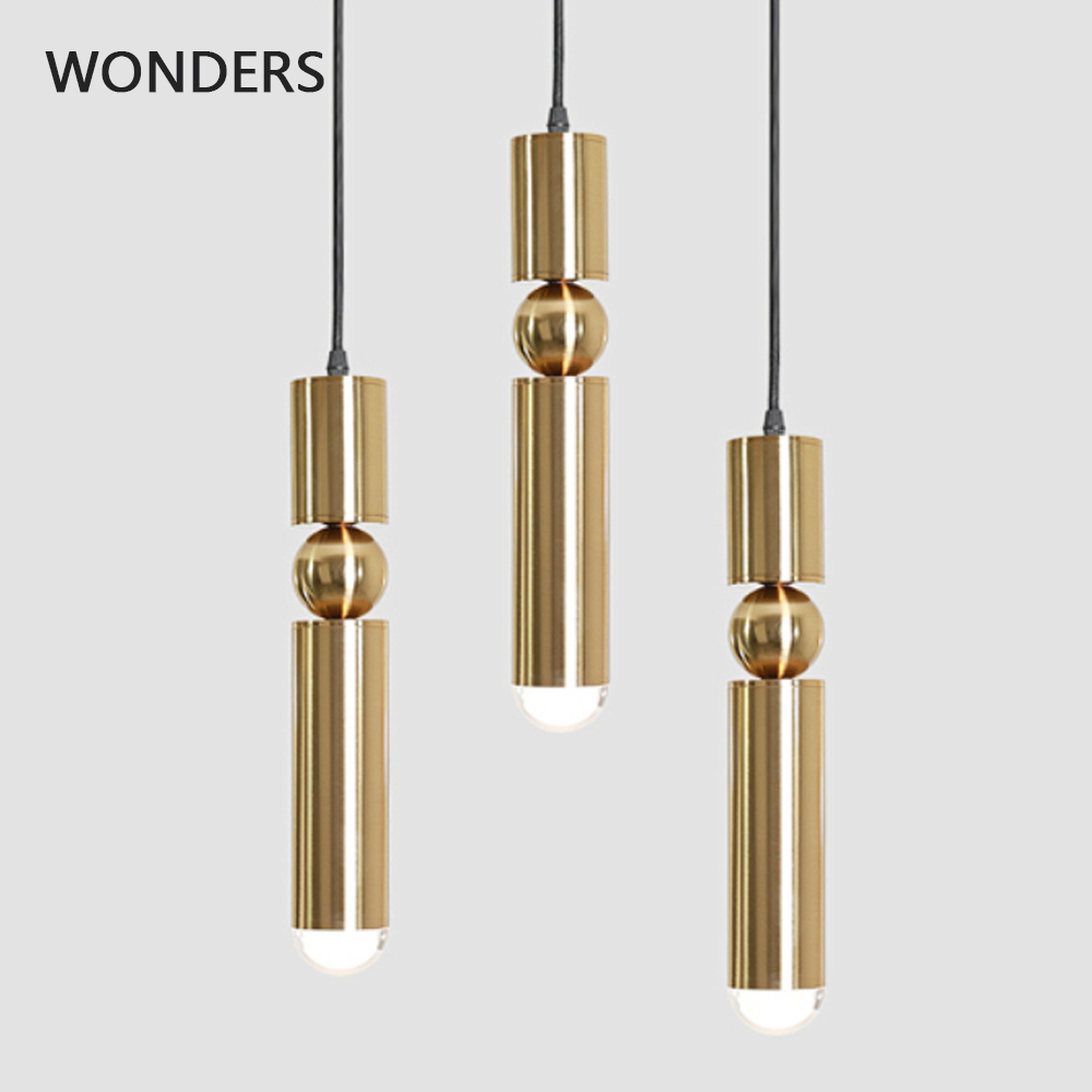 Nodic Pendant Lights Modern Kitchen Lamp Dining Room Bar Counter Shop Cylinder Pipe golden Pendant Down Lights Spot LightNodic Pendant Lights Modern Kitchen Lamp Dining Room Bar Counter Shop Cylinder Pipe golden Pendant Down Lights Spot Light
