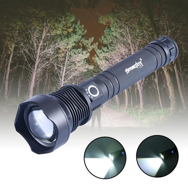 Lampe de poche Super brillante en métal, activités en plein air lampes de chasse étanches en métal haute efficacité éclairage de Camping torche électrique