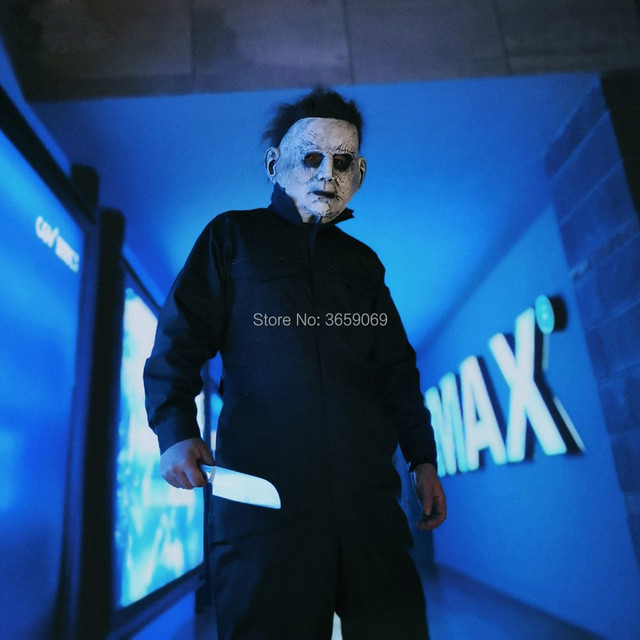 New Latex Horror Movie Michael Myers Mask with Wig Hair Adult Party  Masquerade Cosplay Latex Myers