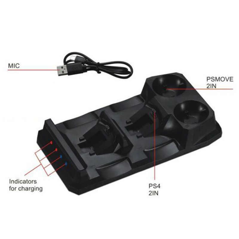 Для Playstation 4 Ps4 тонкий поляризационный фильтр Pro Ps Vr Ps Move контроллеров движения 4 в 1 зарядное usb-устройство Зарядка Док-станция Подставка для хранения Зарядное устройство