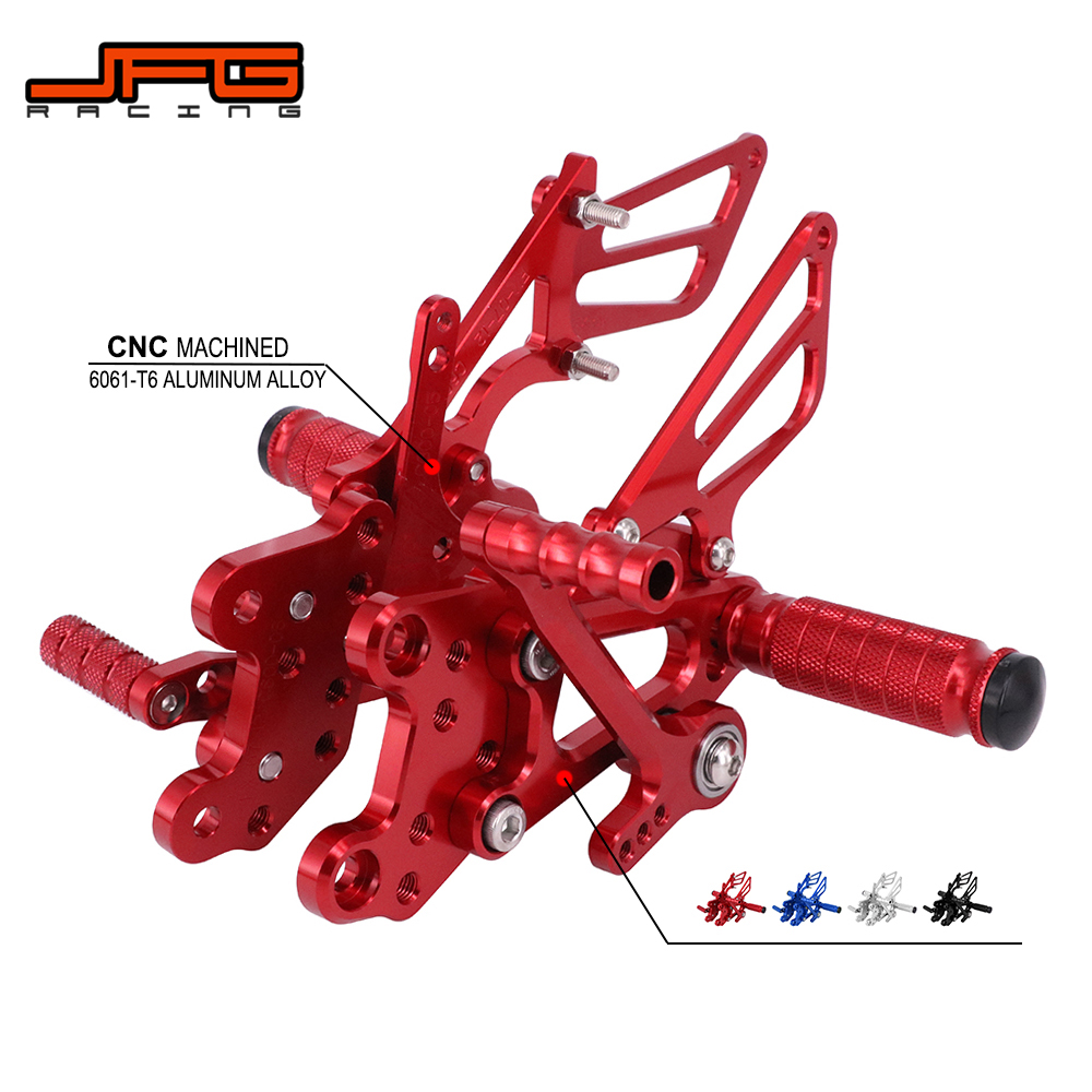 Motorcycle CNC Adjustable Foot Pegs Pedals Rest Rearset Footpegs For HONDA CBR1000RR 2004 2007 CBR600RR 2003