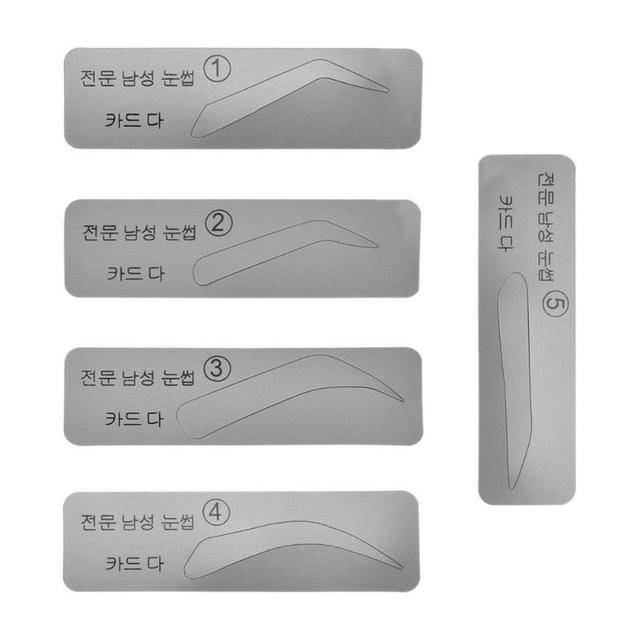 5pcs Reusable Eyebrow Stencil Eye Brow Mold Makeup Tools Eyebrow Shapeing Kits Templates Shaper 1