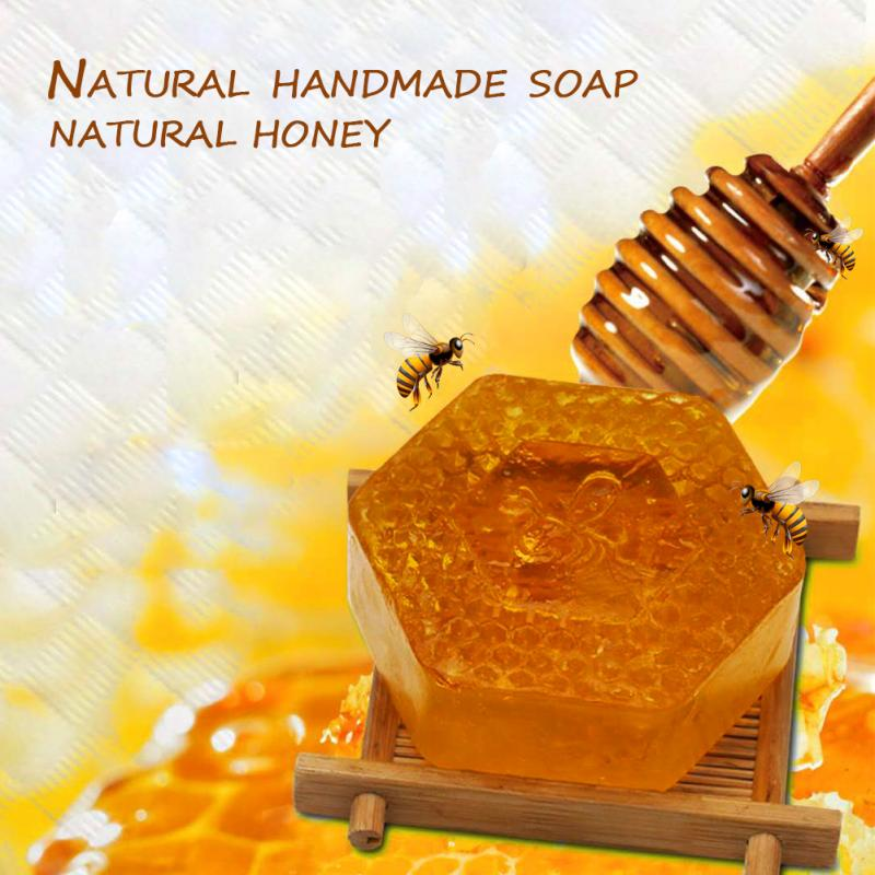 100g Handmade Soap Essential Oil Moisturizing Unique Smell Natural Bath Body Skin Care Deep Cleansing Honey Soap