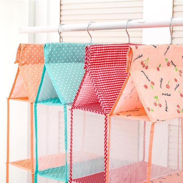 3 schichten Hängen Kleidung Lagerung Box Hängen Regale Schrank Cubby Pullover Handtasche Organizer für Schlafzimmer Badezimmer
