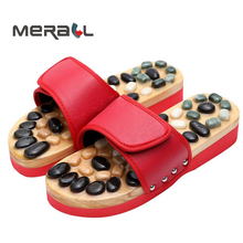 Pebble Stone Foot Massage Slippers Reflexology Feet Elderly Acupuncture Health Shoes Sandals Slippers Foot Massager Masajeador foot massage slippers shoes health sandal massages reflexology feet healthy pebble stone massager shoes