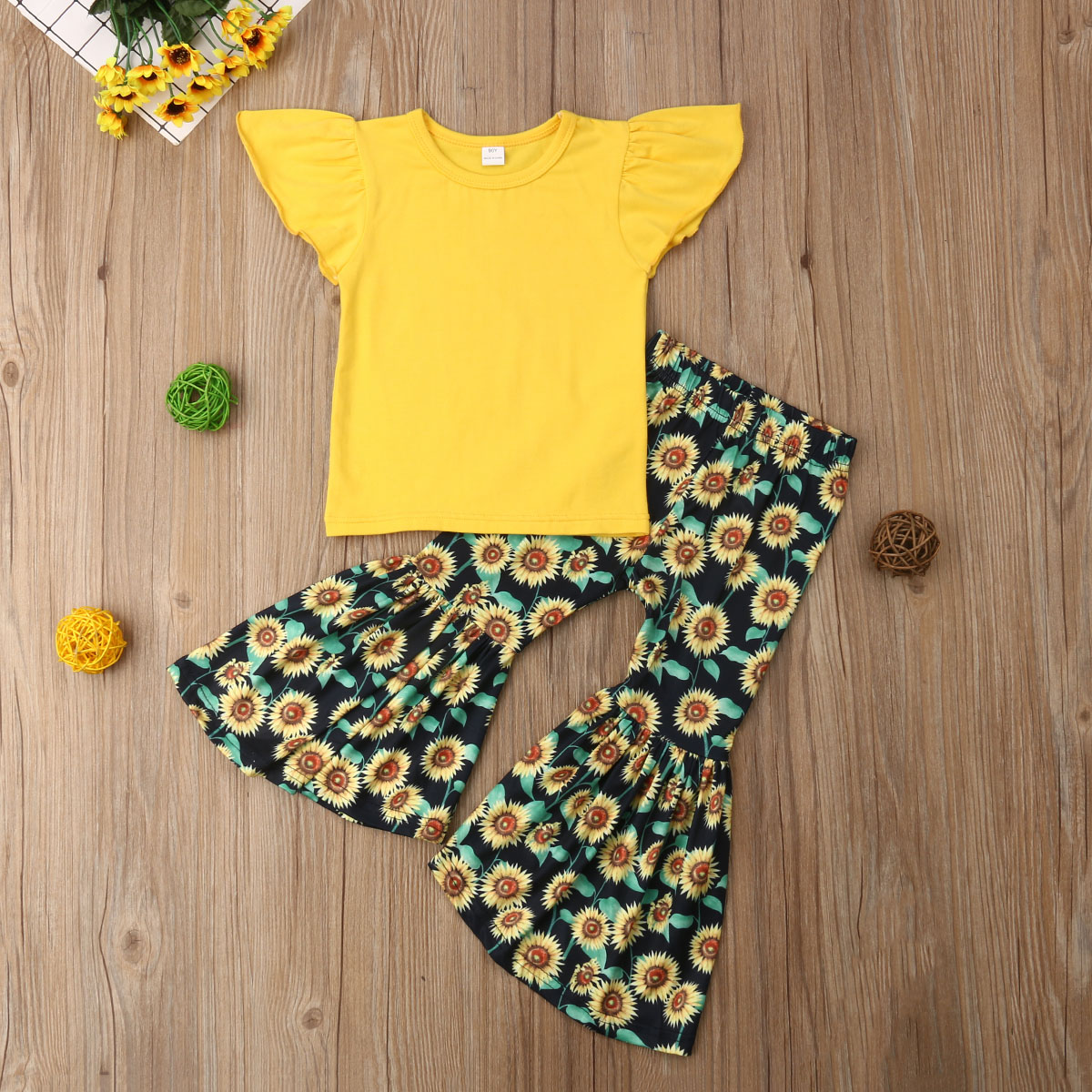 Aliexpress.com : Buy Baby Girl Clothes Fly Sleeve Top T ...