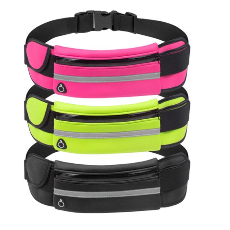 Waist Purse Colorful Leopard Unisex Outdoor Sports Pouch Fitness Runners Waist Bags