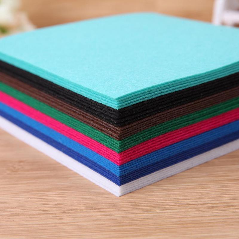 40 шт. красочные нетканые войлочная ткань Базен riche getzner ткань Войлок DIY комплект Швейные куклы ручной работы ремесла ткань швейные инструменты