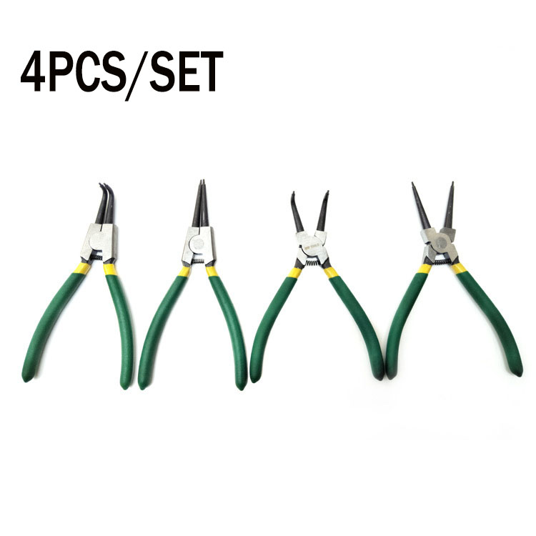Hot 4 PC 7 Circlip Pliers Internal External Bent Nose Straight Tip Snap RingHot 4 PC 7 Circlip Pliers Internal External Bent Nose Straight Tip Snap Ring