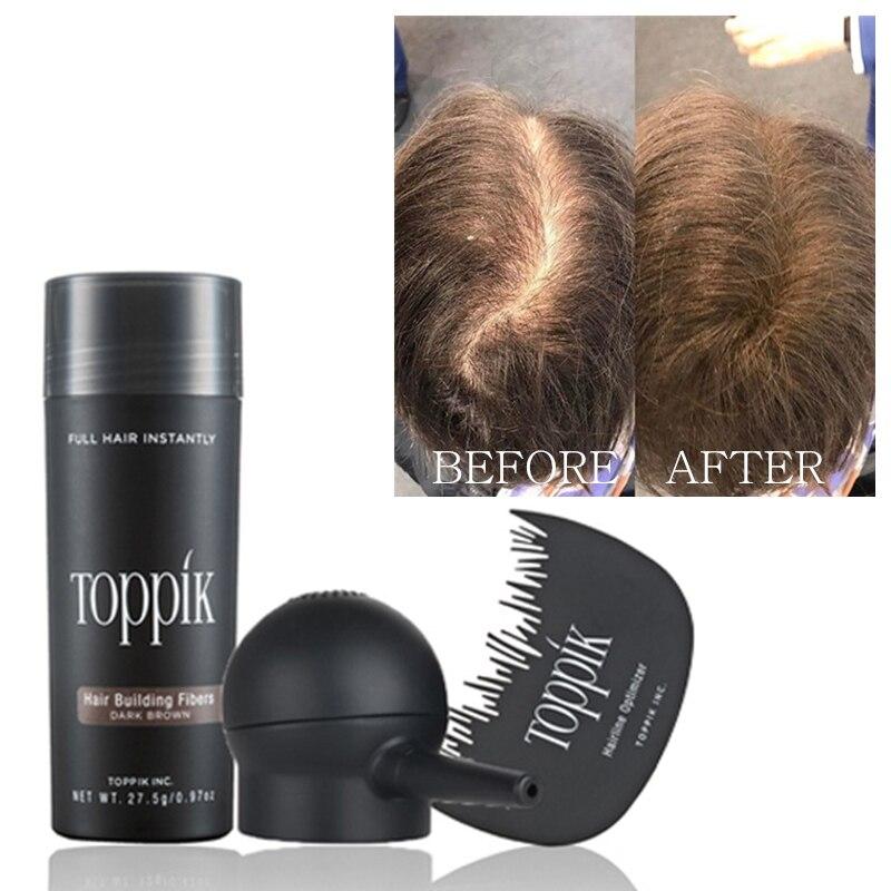 3pcs/lot Toppik Set 27.5g Hair Building Fibers + Spray Applicator + Hairline Optimizer Hair Perfecting Tool Kit