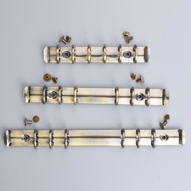 Brass Metal Spiral Rings Binder Clip With 2 Pairs of Screw For Diary Notebook Planner A5 A6 A7 Personal Binder Clip File Folder