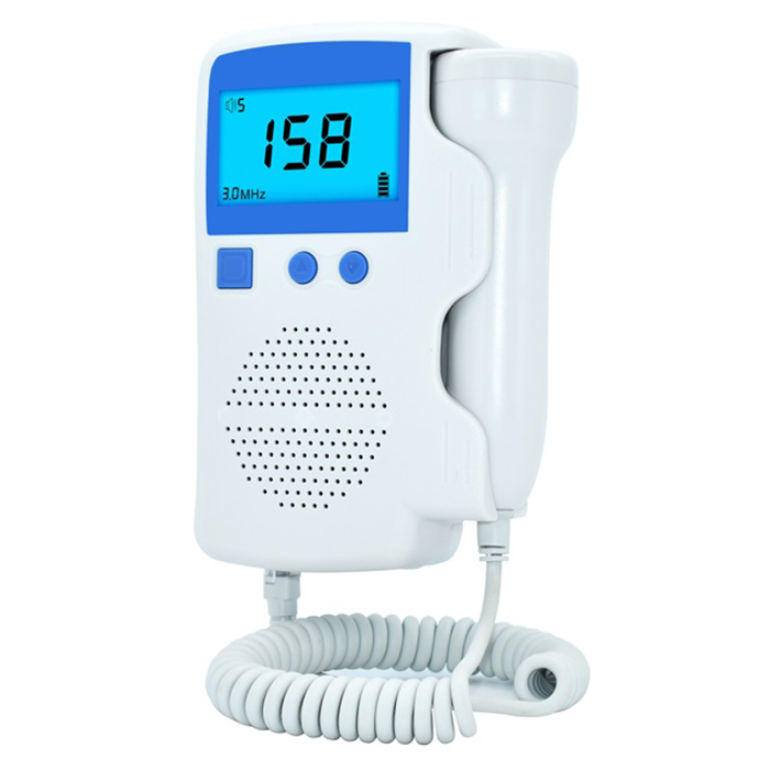 Household Digital Fetal Doppler Loudspeaker & Large Backlight LCD Display Baby Health Care Fetal Doppler Listen Baby's Heartbeat