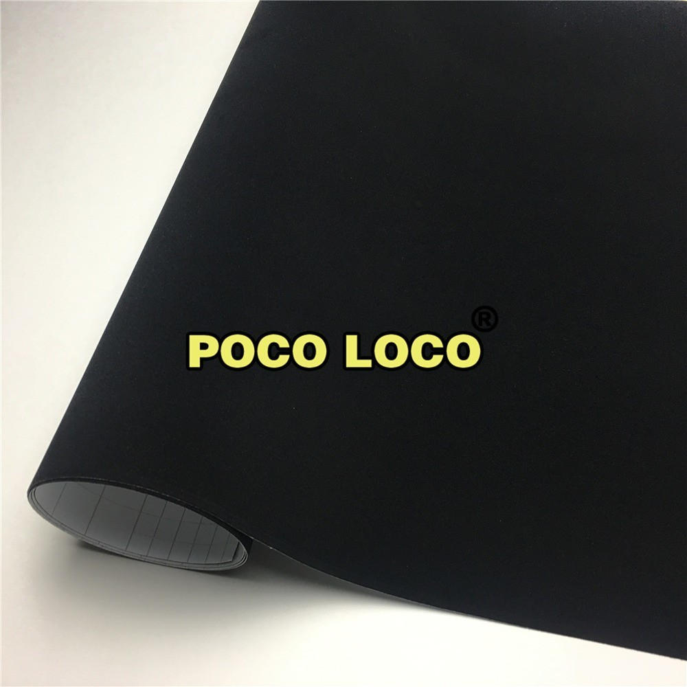 Velvet Black Suede Vinyl Wrap Sticker Decal Bubble Free Air Release Self Adhesive Car Furniture Decoration Film(China)