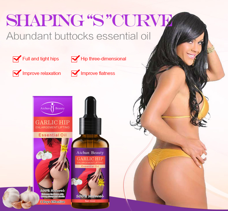 Oil Massage Highlighting Essential-Oil Rose-Fragrance Curve Hips Natural Women's Buttocks