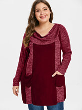 Casual Warm Cowl Neck Women's Rayon Dress
