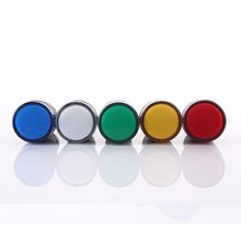 22 Mm Panel Mount LED Power Indicator Pilot Sinyal Lampu Lampu Bekerja dengan Push Button Switch(China)