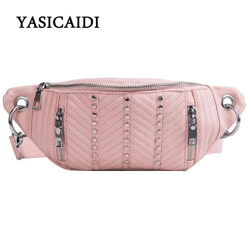 YASICAIDI Women Bag For The Belt Chest Female Girls Ladies Bag 2019 High Quality Bag Zone Female Sachet For Hips Waistband Woman