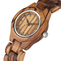 New Arrival 2019 Wooden Watch Women Quartz Timepieces Wood Bangle Wristwatch Stylish Casual Women's Watches Top Gifts Female