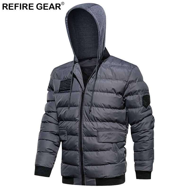Refire Gear Outdoor Windbreaker Men Cotton Thick Warm Windproof Hoodie Sports Jackets Hiking Hunting Trekking Climbing Jackets As Effectively As A Fairy Does