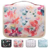 Portable Beautician Hanging Cosmetic Bag For Women Toiletry Makeup Bag Cosmetic Bag Travel Waterproof Make Up Organizer Bags Cosmetic Bags