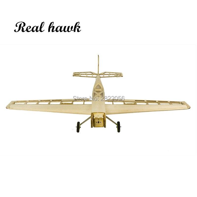 RC avion Laser coupé Balsa bois avions Kit 1.5-2.5cc nitro formateur cadre sans couverture livraison gratuite modèle Kit de construction - 5