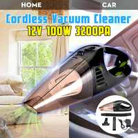 100W 12V Car Vacuum Cleaner Cordless Wireless High Power Household Handheld Vacuum Cleaner Wet and Dry Dual Use Super Suction