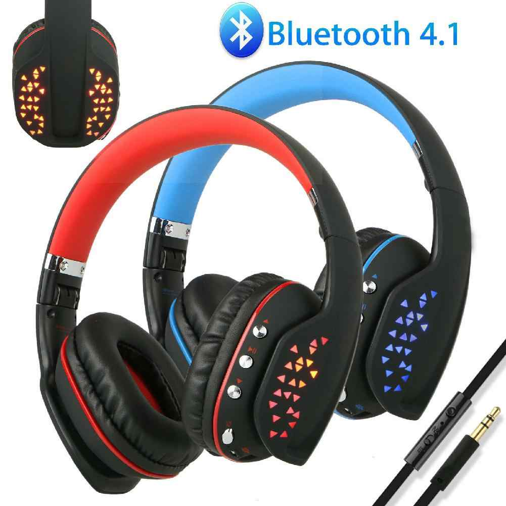 Q2 Foldable Wireless Bluetooth Headphone Casque Gaming Headset With Mic Led Light For Ps4 Xbox Tablet Pc Phone Gamer R20 Aliexpress