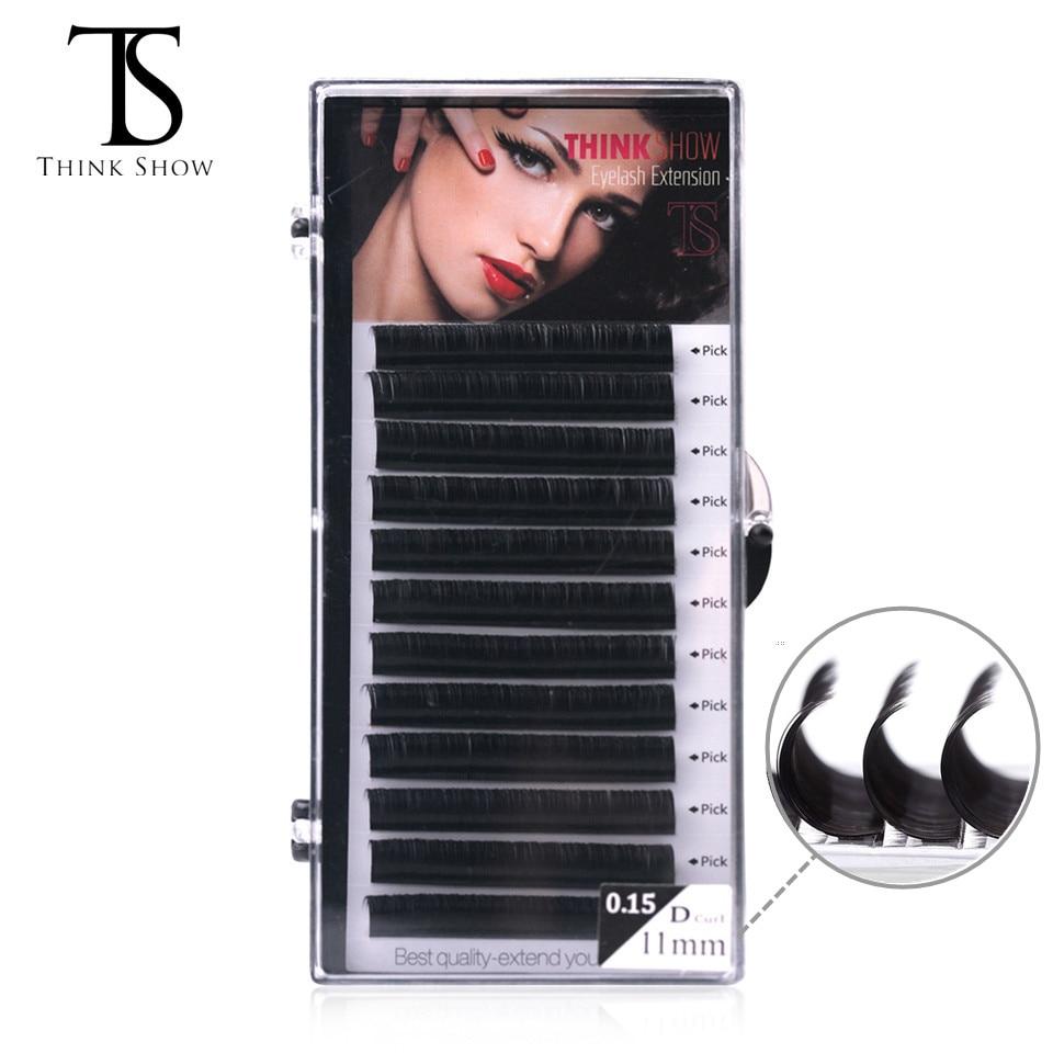 Handmade 12Rows 8-15mm D Curl Eyelash Extension Lashes Natural False Eyelashes Extension Individual Volume Eyelash Makeup Cilia