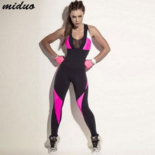 Women Fitness Yoga Set Gym Sports Running Jumpsuits Jogging Dance Tracksuit Breathable Quick Dry Sportswear Clothes Suit цена