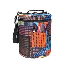 цена на Large Cylinder Oxford Storage Bag Crochet Pendant Wool Yarn Storage Barrel Portable Basket Box Storage Bags