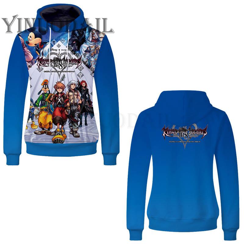 Fans Wear 2019 New Unisex Pullover Sweatshirt Hoodies Kingdom Hearts Cosplay Harajuku Hooded Sweatshirts Tracksuits Hoodies in Hoodies amp Sweatshirts from Men 39 s Clothing
