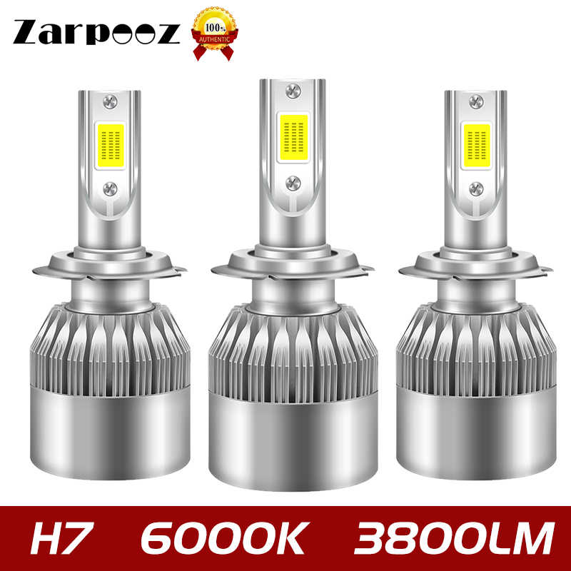 Zarpooz One Pair Auto Headlight Car Lights Bulbs LED 6000K H1 H3 H4 LED H8 H9 H11 880 881 9004 9005 9006 9007 H7 LED 80W Lamp