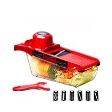 7 в 1 быстрый пластиковый пищевой овощерезка мандолин Строгальщик для овощей Чоппер