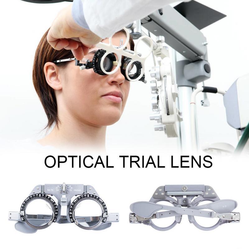 Top Qualidade Óptica Quadro Lente Julgamento Optometria Oftálmica Ajustável Trial Frame Ótico PD 54-70 milímetros de Titânio Puro Óptica