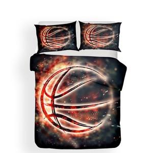 Image 2 - طقم سرير 3D لحاف مطبوع غطاء طقم سرير كرة السلة المنسوجات المنزلية للبالغين نابض بالحياة أغطية مع المخدة # LQ02