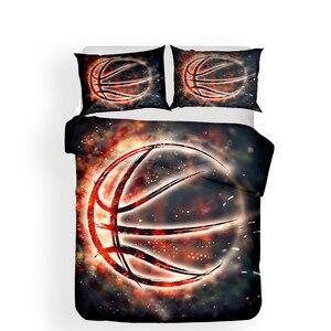 Image 2 - Set di biancheria da letto 3D Stampato Duvet Cover Bed Set Basket Tessuti per La Casa per Adulti Realistico Biancheria Da Letto con Federa # LQ02