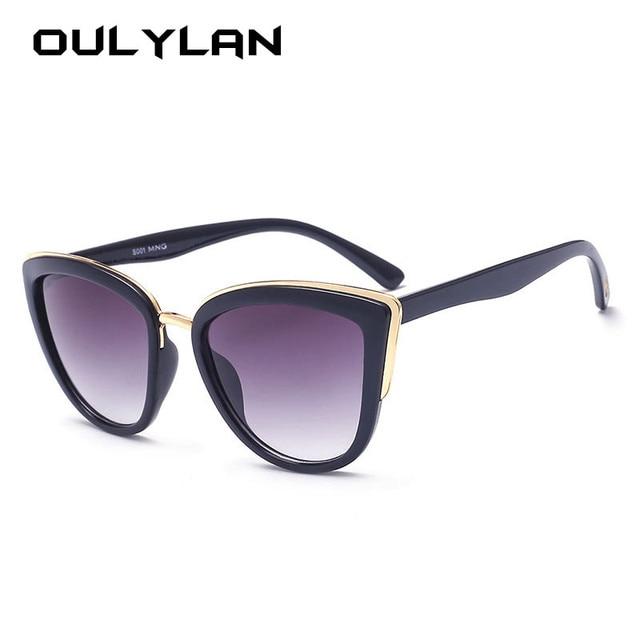 427d7aeacd Oulylan Luxury Cat Eye Sunglasses Women Vintage Brand Gradient Sun Glasses  Shades Ladies Retro Cateyes Design