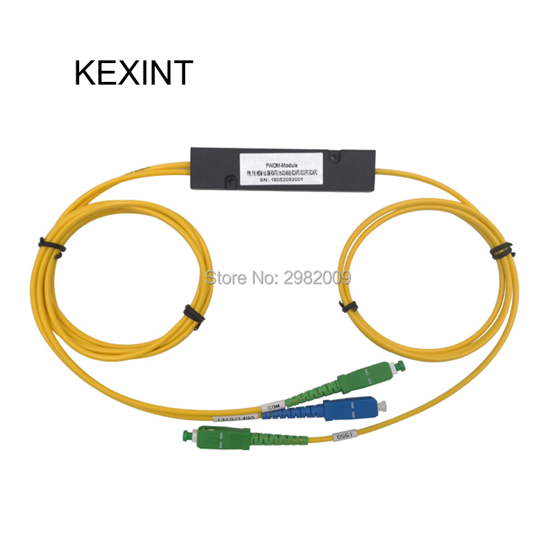 KEXINT FWDM 1*2  1m, 0.9,SC/UPC DATA:1310nm,1490nm, SC/APC COM,TV 1550nm Isolation 55bB10pcs