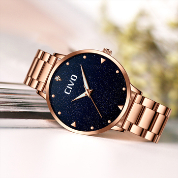 CIVO Luxury Gold Ladies Watches Women Watches Clock Stainless Steel Women'S Bracelet Watches Relogio Feminino Montre Femme 5