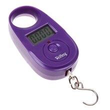 WeiHeng Lcd дисплей 25 кг/5 г крючок Висячие рыболовные карманные весы портативные цифровые весы Мини Фиолетовый