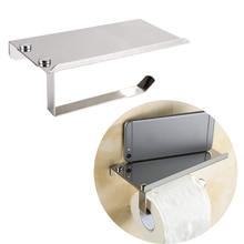 Ванная комната хранения нержавеющая сталь туалетная рулонная бумага держатель для хранения коробки для салфеток Мобильный Телефон Полка вешалка для полотенец для ванной Органайзер