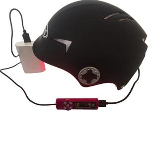 Image 1 - 育毛帽子アップグレード再レーザーヘルメット高速成長毛キャップ脱毛ソリューション男性女性ダイオード治療帽子