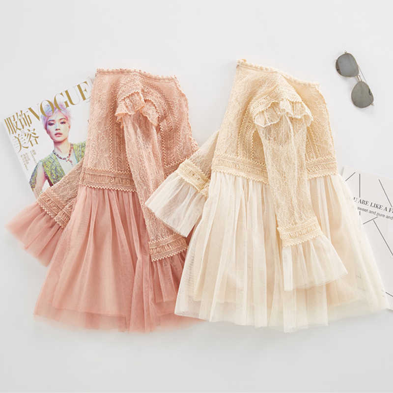 ... 2019 new spring lace princess dresses age for 4 - 14 yrs teenage girls  vintage noble ... eac7f693c4c0