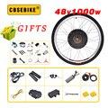 CBSEBIKE 48V 1000W Ebike Kit Электрический велосипед преобразования электровелосипед велосипед задний мотор колеса комплект Бесплатная 15 Инструменты ...