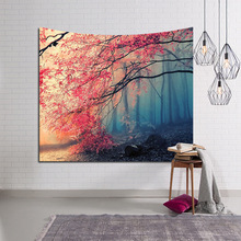 LYN&GY Snow Mountain Ocean Scenic Sky Moon Nature Tapestry Wall Hanging Carpet Throw Yoga Mat for Home Bedroom Decoration