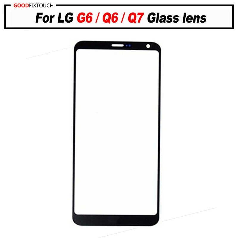 ل LG G6/Q6/Q7 lcd شاشة خارجية غطاء لوحة اللمس أمام عدسة زجاج الشاشة استبدال