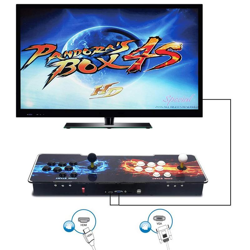 1388 In 1 Pandora's Box 6S Heros Of Storm Arcade Game Console Double Stick 720P pandora box 6s 1388 in 1 retro video games double stick arcade console light classic boxing game