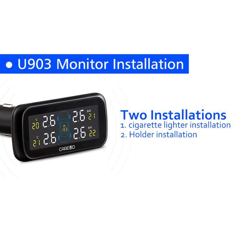 Universal Car TPMS Tire Pressure Monitoring System Display Internal Anti-theft Sensors Tire Pressure Monitor Real Time TPMS U903