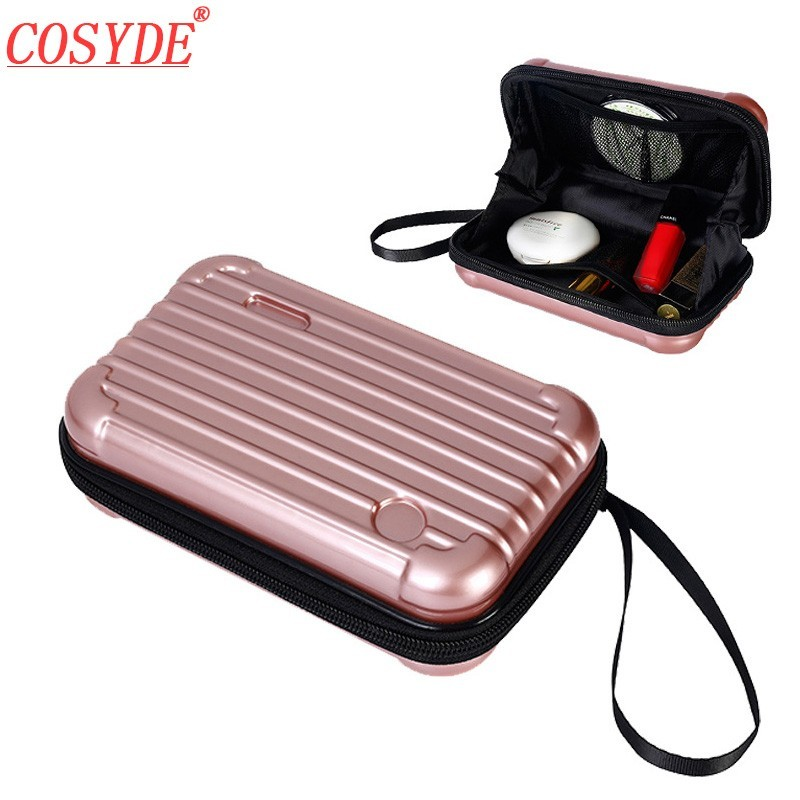 3a0a2d829 2018 New Waterproof ABS Makeup Bags Hard Portable Cosmetic Bag Women Travel  Organizer Necessity Beauty Case